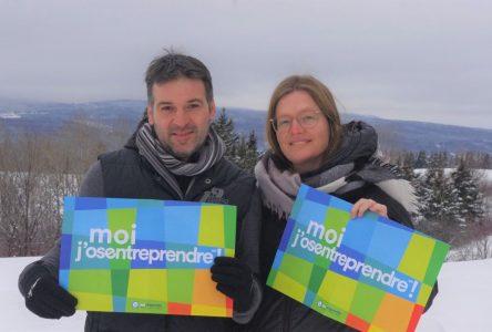 Brigitte Lavoie et Stéphane Dufour, porte-paroles du Défi OSEntreprendre