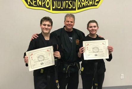Karaté: deux nouvelles ceintures noires deuxième dan
