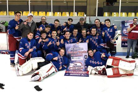 Les Rapides de Beauce-Nord remportent le tournoi junior de Clermont