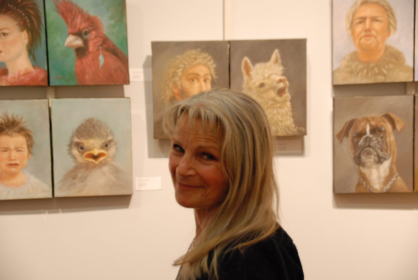 Exposition de Marie Montiel à la bibliothèque René-Richard:Dialogues d'hommes et de bêtes