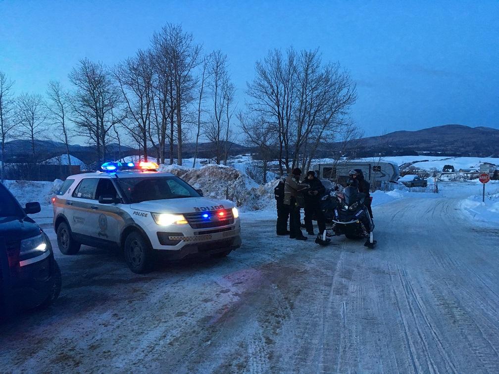 La Sûreté du Québec met d'autres motoneigistes à l'amende