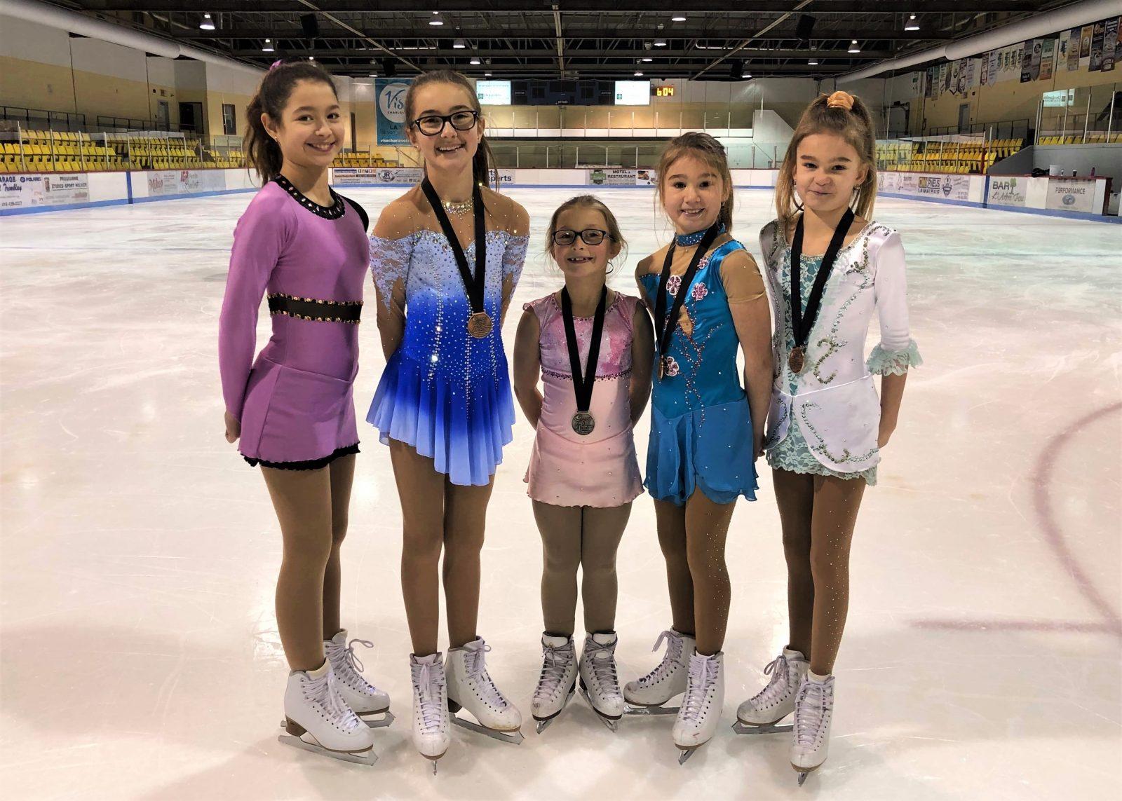 Quatre médailles pour Les Carrousels aux finales régionales de patinage STAR /Michel-Proulx2020