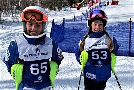 Belles performances de quatre jeunes skieurs de Charlevoix au Massif