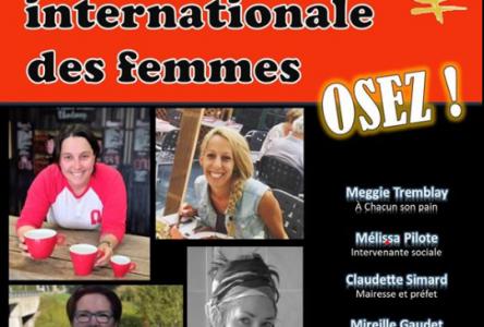 Quatre conférencières pour la Journée internationale des femmes