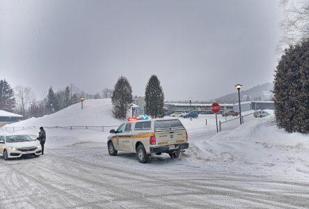 Évacuation à l'école secondaire du Plateau