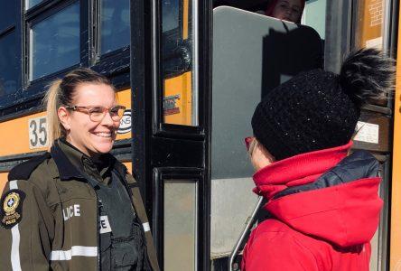 La Sûreté du Québec s'est invitée dans les autobus scolaires