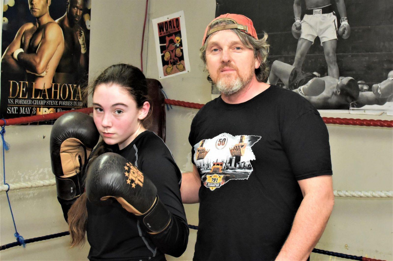 Premier combat de boxe pour Kelly Harvey