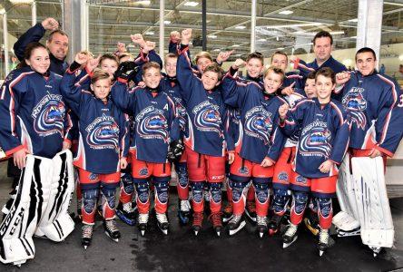 Les Rorquals pee-wee BB remportent leur second match au Tournoi international de hockey pee-wee de Québec