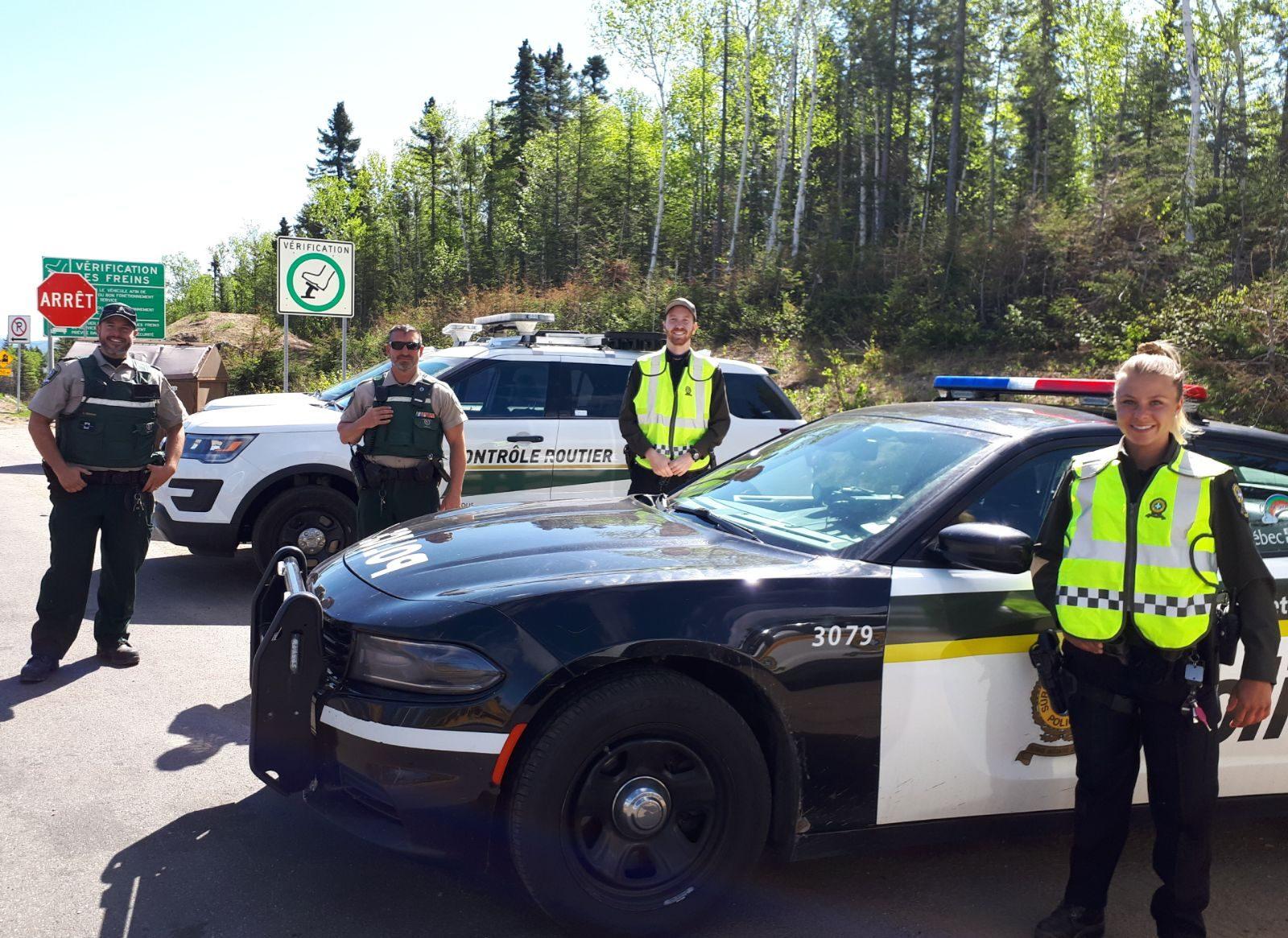 Sûreté du Québec: série de contrôles routiers et de surveillance dans Charlevoix