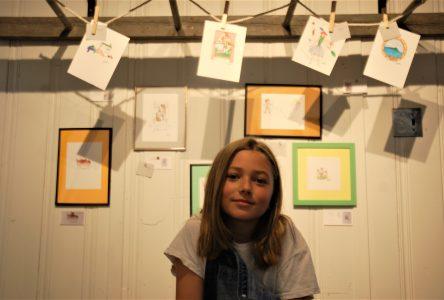 Félixe Boudreault expose ses «miniatures» à l'Auberge La Fascine