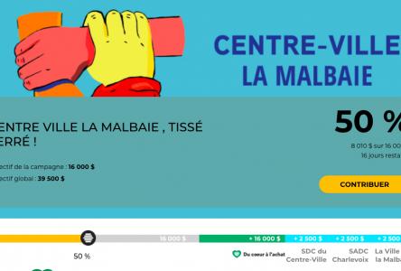 « Centre-ville de La Malbaie, Tissé Serré » est à mi-chemin de son objectif