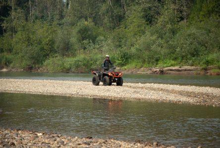 Interdit de circuler en véhicule motorisé dans l'habitat du poisson, rappelle le MFFP