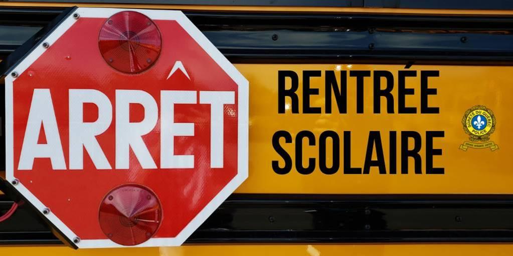 La Sûreté du Québec appelle à la prudence pour la rentrée scolaire