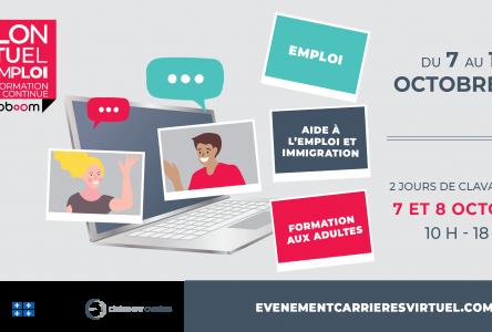 Trouvez votre nouvel emploi au Salon virtuel de l'emploi et de la formation continue!
