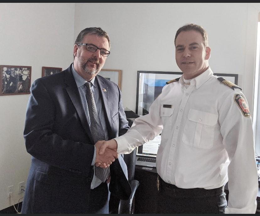 Le travail du chef pompier Yoan Savard est reconnu