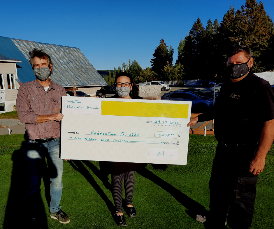 Le Centre de prévention du suicide de Charlevoix récolte 6 000 $