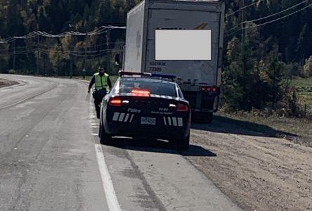 La Sûreté du Québec constate plusieurs excès de vitesse