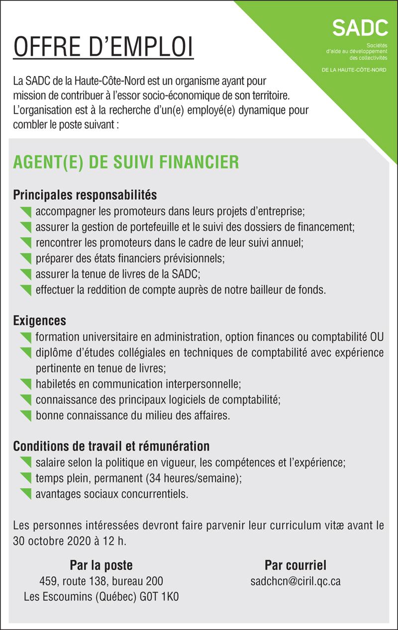 Agent(e) de suivi financier