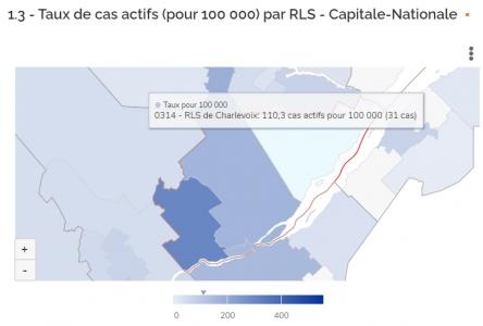 COVID-19: Toujours pas de nouvelles données pour Charlevoix