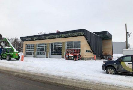 La nouvelle caserne de pompiers sera terminée sous peu à L'Isle-aux-Coudres