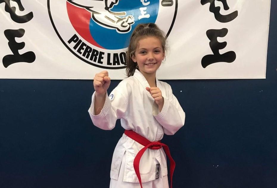 Marie-Philippe Desbiens est arrivée première dans un championnat de taekwondo